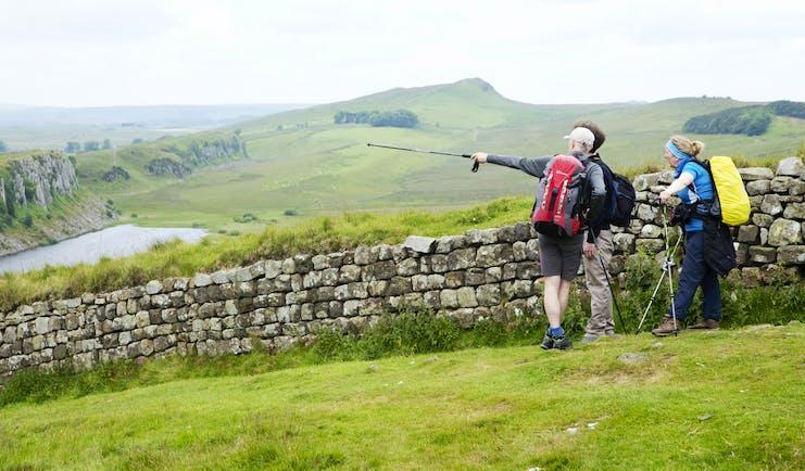 Hadrian's Wall scenery and walking