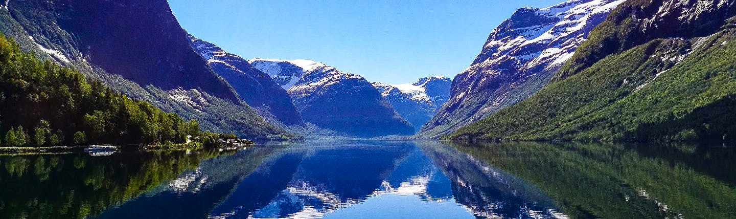 Norway fjord and mountain scenery