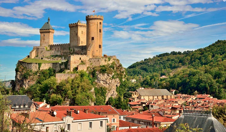 Walking in Cathar country Foix castle