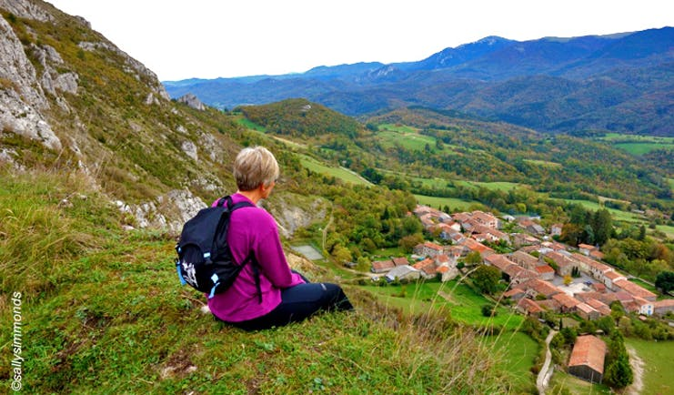 Walking in Cathar country Roquefixade