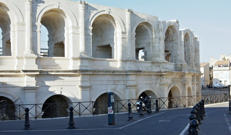 Ancient Roman amphitheatre in the Provence town of Arles